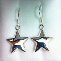 Sterling Silver star hanging earrings
